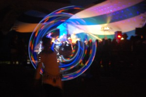 LED hooping to Adham Shaikh at ArtsWells